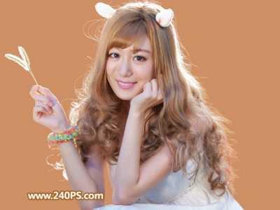 用PS通道对金发美女照片抠图处理的教程 发照片美女