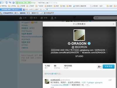 我终于可以上推特关注看韩国偶像权志龙的推特了 推特韩文网