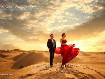北京夫妻去沙漠拍婚纱照 沙漠婚纱照