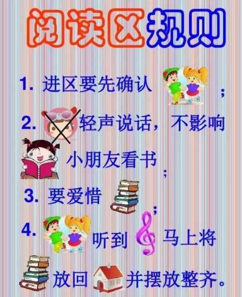 幼儿园中班区域规则 幼儿园区域活动进区规则及提示图片