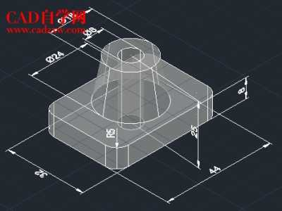 cad三维实战练习1及建模详细过程 cad三维建模教程