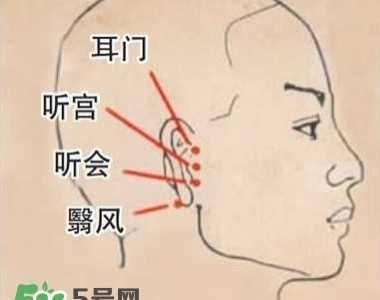 艾灸治疗耳鸣操作方法 耳鸣艾灸图