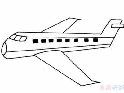 怎幺画客运飞机简笔画图片教程简单又漂亮 航天飞机简笔画图片