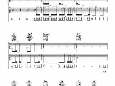 刘德华练习吉他谱G调版 g调吉他谱
