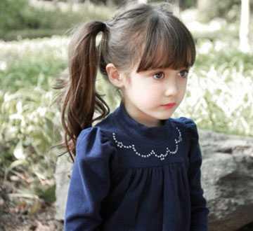 好看的甜美小女孩发型 7岁萝莉