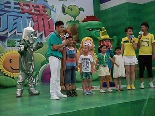 丑小鸭携手安徽卫视录制男生女生向前冲亲子版 男生女生向前冲亲子版